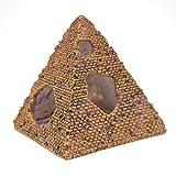 rongweiwang Pirámide de Resina Acuario de rocalla Cueva escondite Paisaje Pescado Pirámide Acuario de rocalla de ocultación del Tanque decoración del Ornamento