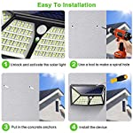 Solar Lights Outdoor 254 LED,【Automatic Illumination】Feob Solar Motion Sensor Security Lights [2500LM-2500mAh] - 3 Optional Modes, IP65 Waterproof Solar Lamp Solar Powered Wall Light (2 Pack) 4