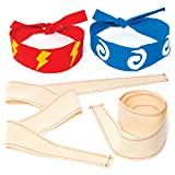 """Baker Ross """"Ninja"""" Stoff-Kopfbänder für Kinder zum Gestalten und Tragen beim Kostümfest –..."""