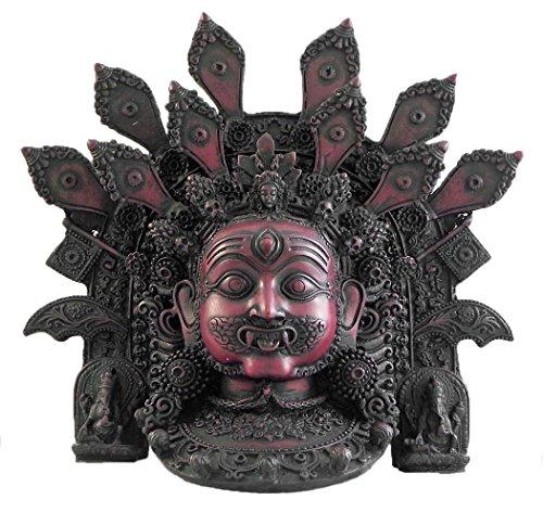 DollsofIndia Mahakala – Steinstaubmaske – 21,6 x 21,6 x 7,6 cm (RF22)