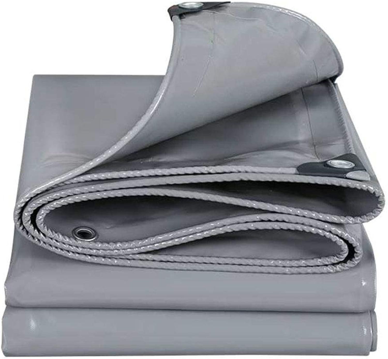 YX-Planen Heavy Duty Plane grau grau grau Multi-Purpose Reversible Waterproof - Hohe Dichte 100% wasserdicht und UV-geschützt - Dicke 0,45 mm, 500 g m² B07KS3TGFS  Einfach 15cbf1