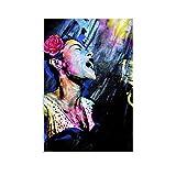 caomei Billie Holiday – Blauer Mond Poster, dekoratives