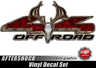 Decals 4x4 Truck Camo Sticker Red Deer Hunting Skull
