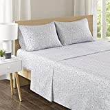 Comfort Spaces 100% Cotton Percale 4 Piece Set Ultra Soft Breathable Deep Pocket Printed Llama Animal Pattern Sheets with Pillow Cases Bedding, Queen, Lama Multi