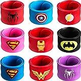 Sinwind Bracelets Enfants, Super-héros Bracelets,9 Slap Bracelets pour Enfants Slap Bracelets Cadeau pour Fête d'anniversaire Invited Bracelet Enfant Toy