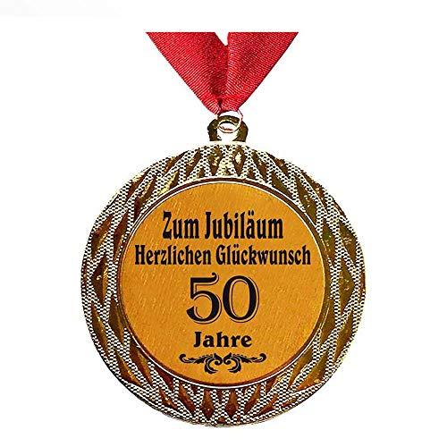 Larius Group Medaille Orden zum Jubiläum 50 Jahre Auszeichnung Ehrenorden zum Geburtstag Geschenk Jubilar Persönlichen Orden (mit Halsband)