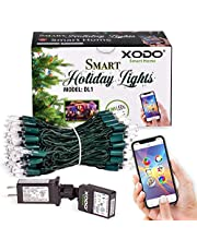 Xodo Outdoor String Lights, Dream Color Christmas Lights with APP, Waterproof Color Changing LED String Lights for Wedding Party