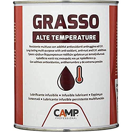 Camp GRASSO ALTE TEMPERATURE, Grasso Lubrificante Infusibile Resistente ad Alte Temperature, Anti-ossidante, Anti-ruggine, E.P., 1 kg