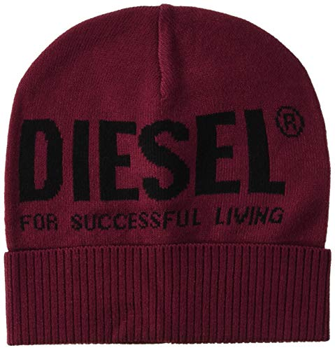 Diesel Unisex Mütze - Beanie, K-Becky-Hut, Jacquard, One Size Rot