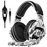 [Sades 2017 Multi-Platform New cuffie Xbox one PS4 Gaming Headset], SA810 Gaming cuffie da gioco cuffie Gaming per New Xbox one / PS4 / PC/Laptop / Mac/iPad / iPod (nero e camuffamento)