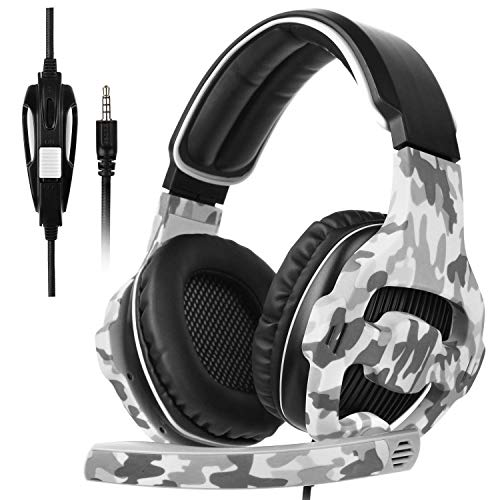 [SADES Xbox One Gaming Headset de Juego PS4], SA810 Gaming Auriculares de Juego de Auriculares para Xbox One Nuevo / PS4 / PC/Laptop/Mac/iPad/iPod (Negro y Camuflaje)