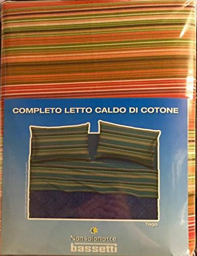Bassetti Parure de lit 1 Place et 1/2 Place Chaude en Coton (Dessus 180 x 280 + 1 Drap Housse 125 x 200 + 1 taie d'oreiller 50 x 80)