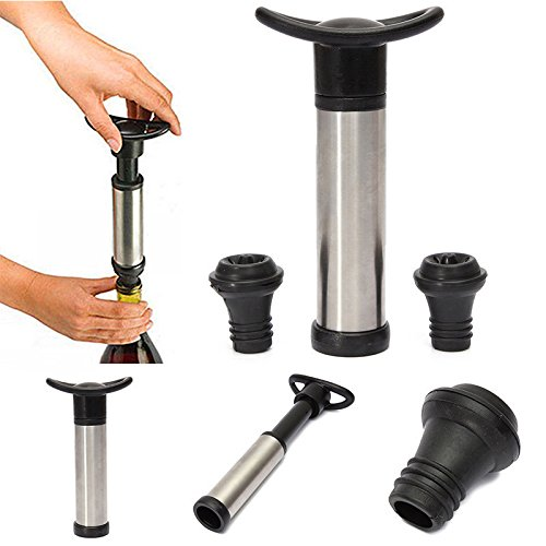 viewhuge reutilizable botella de tapón para botella de vino al vacío sellador Ahorro conservante para bomba con 2bar herramientas