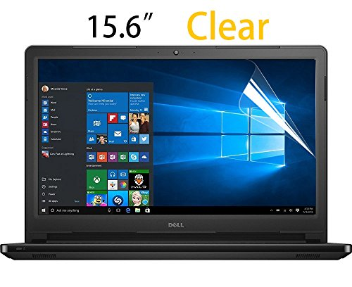 """15.6 Inch Clear Anti-Scratch Screen Protector Guard Film Cover Skin for Dell Alienware 15, DELL Laptop Inspiron 15 i3558, Dell Inspiron 15 3000 5000 15.6"""" Laptop Display 16:9"""