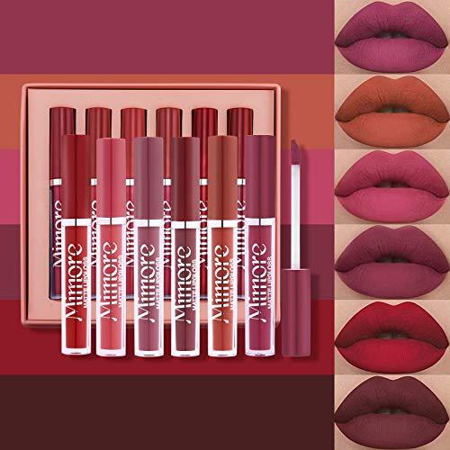 Mimore Rouge à lèvres 6pcs / set Kit de brillant...