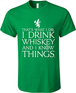 08849de98b0ad GunShowTees Men s That s What I Do I Drink and I Know Things St. Patrick s  Day