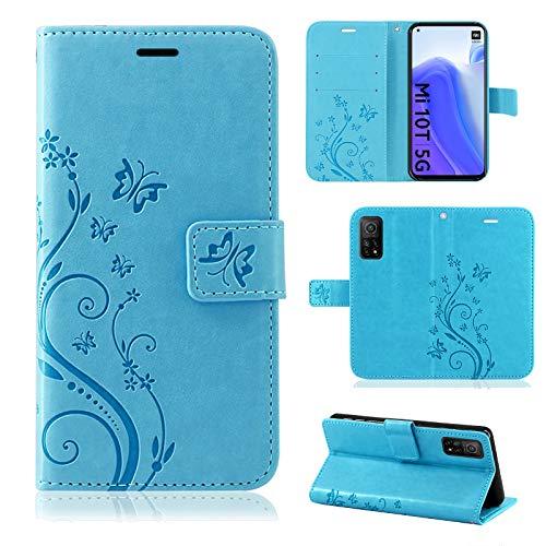 betterfon   Xiaomi MI 10T / Mi 10T Pro Hülle Handy Tasche Handyhülle Etui Wallet Hülle Schutzhülle mit Magnetverschluss/Kartenfächer für Xiaomi Mi 10T / Mi 10T Pro Blau