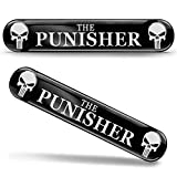 SkinoEu® 2 x Punisher Aufkleber 3D Gel Silikon Autoaufkleber Totenkopf Totenschädel Skull Auto...