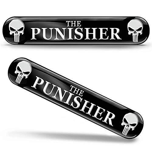 SkinoEu® 2 x Punisher Aufkleber 3D Gel Silikon Autoaufkleber Totenkopf Totenschädel Skull Auto Moto Emblem Logo Tuning Zubehör Motorrad KS 109