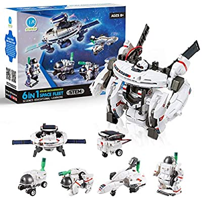 GP TOYS Solar Robot Kits STEM Toys 7 in 1 Kit Space Toys Educational Toys Stem Projects for Kids Ages 8-12