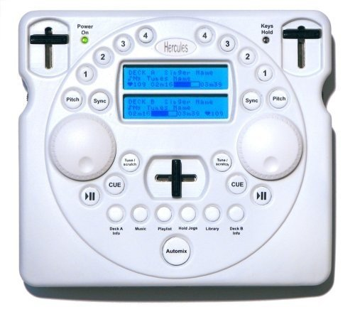 Hercules MP3-Player Mobile DJ weiß