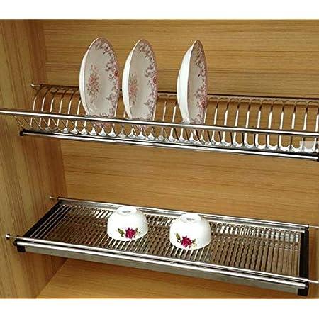Dbr Stainless Steel Kitchen Dish Rack Drainer For Cabinet Width Silver 70 Cm Amazon In Home Kitchen