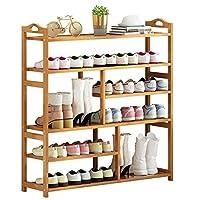 靴ラック収納棚 6層竹靴ラック入り口靴の棚棚廊下の寝室の寝室の客室収納ラックは26組の靴を収容することができます 靴箱