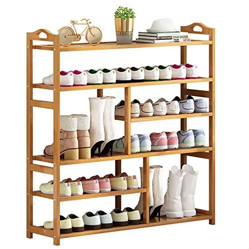 Organizador para Zapatos Estante de calzado de zapatos de zapatos de bambú de 6 niveles Ideal for sala de estar Corredor Dormitorio Multi-Function Home Storage Rack puede alojar 26 pares de zapatos Mu