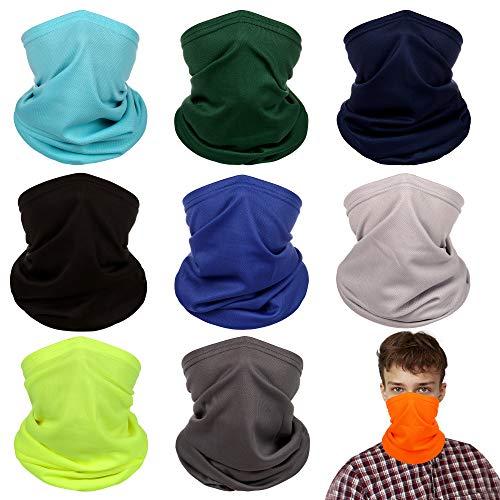 OTIOTI Face Masks Bandanas Neck Gaiters Balaclava Magic Hiking Headband Elastic UV Resistence Sport Headwear Outdoor (Pure Color-9)