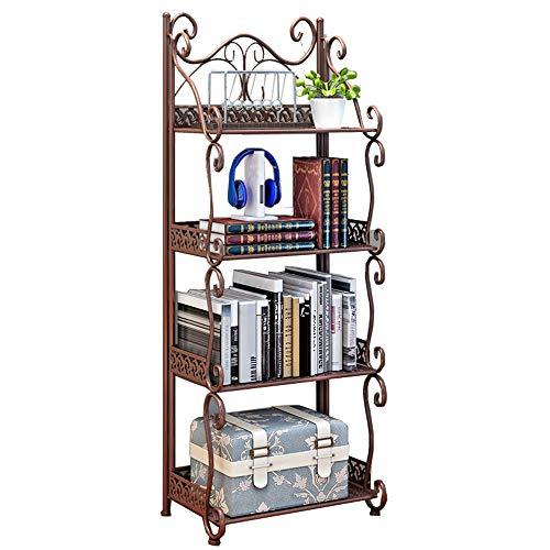 PLHMS Schmiedeeisen Regale Etage 4 Regale Cut Off Bücherregal Wohnzimmer Badezimmer Küche Gap Lagerung Lagerregale