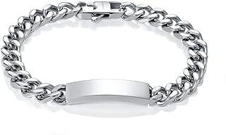 1650 plata 925 22/cm pulsera esclava con cadena con placa Esclava para hombre de Styleziel