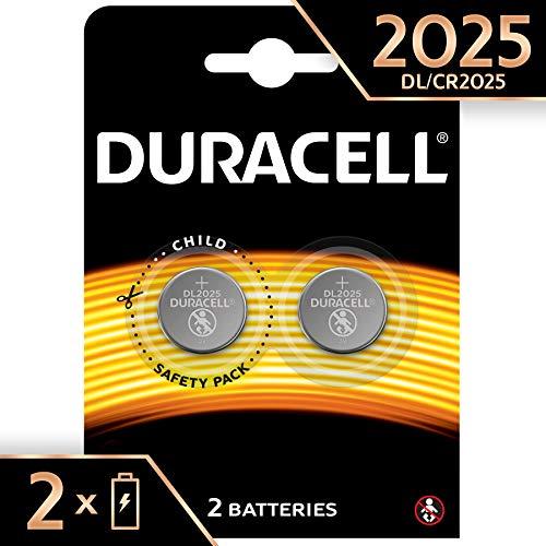 Duracell 2025 - Pila de botón de litio 3V, diseñada para dispositivos...
