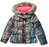 LONDON FOG Girls' Little Winter Coat with Hat & Scarf, Gray Galaxy...