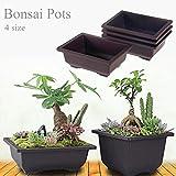 zhuangyulin6 1 pz vasi per Piante in plastica, Fiori vasi per Bonsai con Vassoio in plastica Balcone...