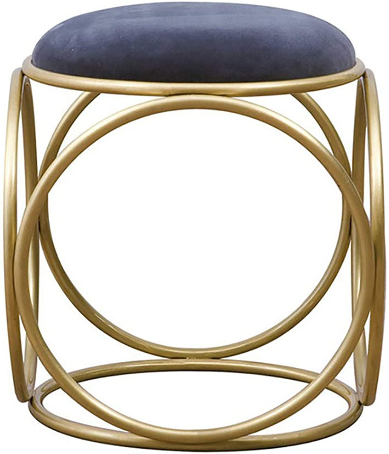 Dressing Stool Simple Bedroom Dressing Table Stool Living Room Round Stool Suede Makeup Chair Nail Chair