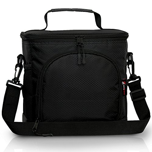 Pwrxtreme Insulated Lunch Bag with Best 2 Way Zipper Closures...