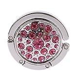 Max-Tonsen Bolso de Mano Plegable Redondo Bolso de suspensión de Diamantes de imitación Soporte de Asas de Gancho de Escritorio de Mesa