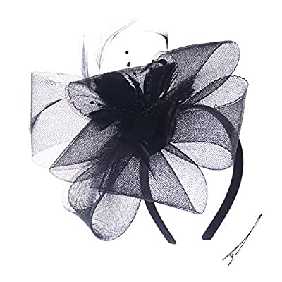 Fascinator Hats Blossom Feather Tea Party Headpiece Wedding Church Bridal Headwear for Women Girls