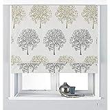 Riva Home Oakdale Raffvorhang, Polyester, Silber, 61 x 137cm