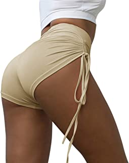 Beiziml Sexy Women Yoga Shorts High Waist Push Up Fitness Short Legging Gym Trunks Running Tight Sportswear Striped Short ...