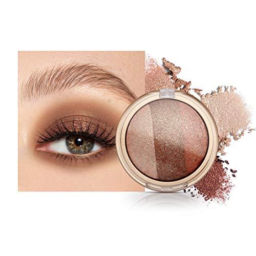 Mimore Sombra de ojos con brillo metálico Sombra de ojos única,sombra de ojos Earthy Sombra de ojos ahumada Sombras de ojos cosméticos naturales Color muy pigmentado Sombra de ojos de precisión(02)
