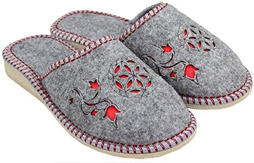 TupTam - Zapatillas de estar por casa de Fieltro para mujer, color Gris, talla 41