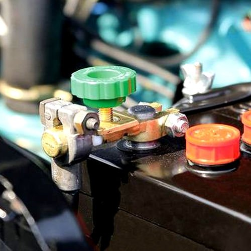 AutoScheich® Auto Batterie Trenner Unterbrecher Haupt Trenn Schalter Pol Klemme Poltrenner Polklemme Batterie Stop Batterieklemmen 6V 12V 24V