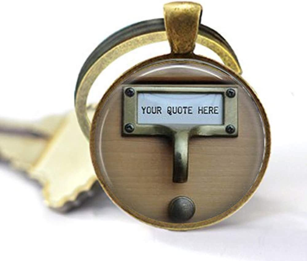 Library Card Catalog Spasm Max 61% OFF price Key Necklace Librarian Reading Vintag -
