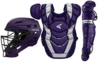 EASTON ELITE X Baseball Catchers Equipment Series Box Set | 2020 | Helmet | Chest Protector + NOCSAE Commotio Cordis Foam | Leg Guards | NOCSAE Approved For All Levels of Play