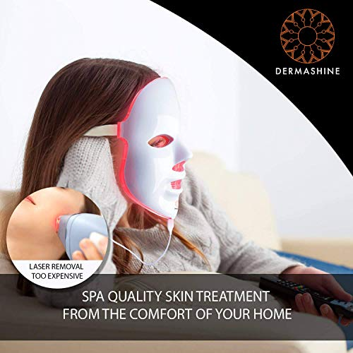 Lounging with the Dermashine Light Therapy Mask