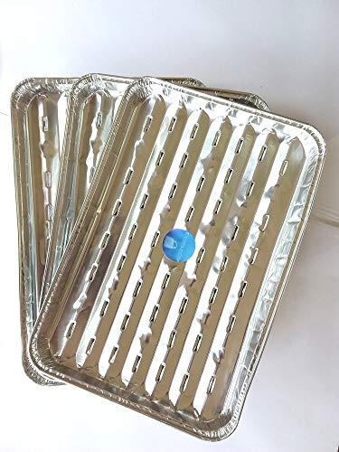 Shieldup, lot de trois barquettes à grillades pour barbecue en papier d'aluminium