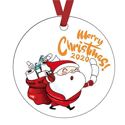 DIANAR Articulos De Navidad para Decorar 2020 Adornos Arbol Navidad Colgante Personalizadas Adornos De Navidad DIY Decoracion Navidad Hogar (G)