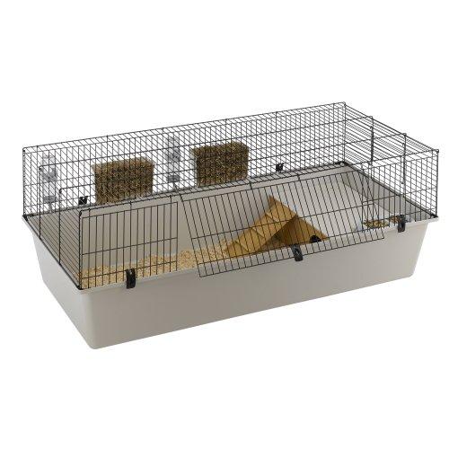 Ferplast Kaninchenheim Rabbit 160 mit Komplettausstattung, Maße: 156,5 x 77 x 61,5 cm, schwarz