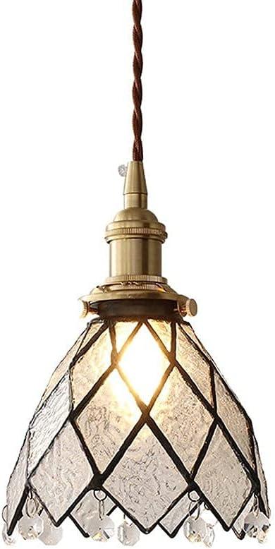 MQJ Lámpara de Techo de la Sombra de Cristal de la Iluminación Del Colgante, la Lámpara de Techo de la Campana de Metal de Oro, la Luz de la Araña de la Granja, Las Mini Lámparas de Techo Modernas pa